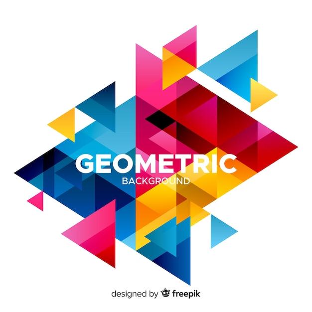 幾何学のカラフルな背景 無料ベクター
