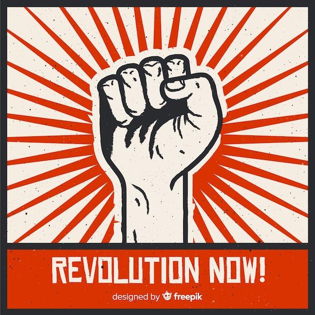 ヴィンテージスタイルのクラシックな革命 無料ベクター