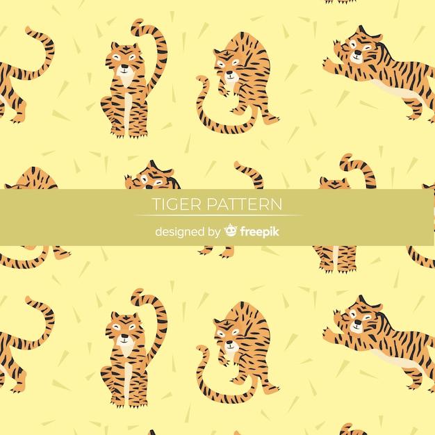タイガーパターン 無料ベクター