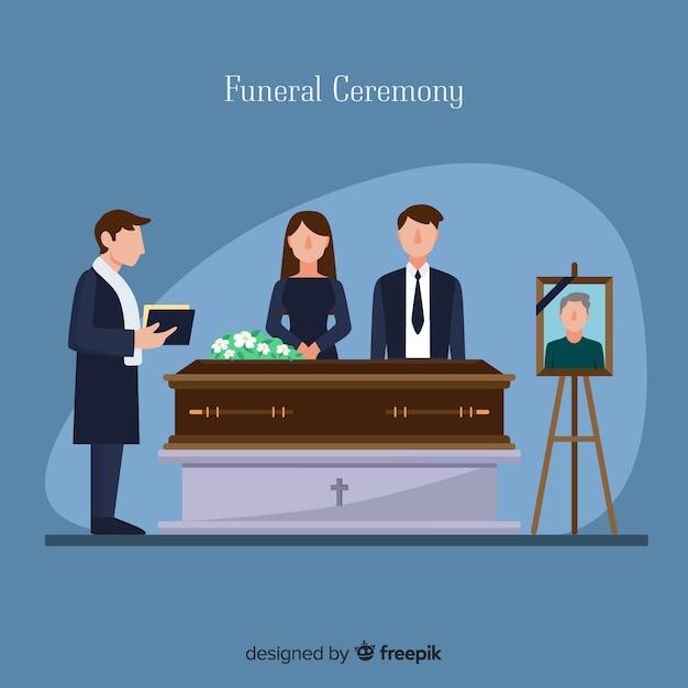 Похоронная церемония Бесплатные векторы