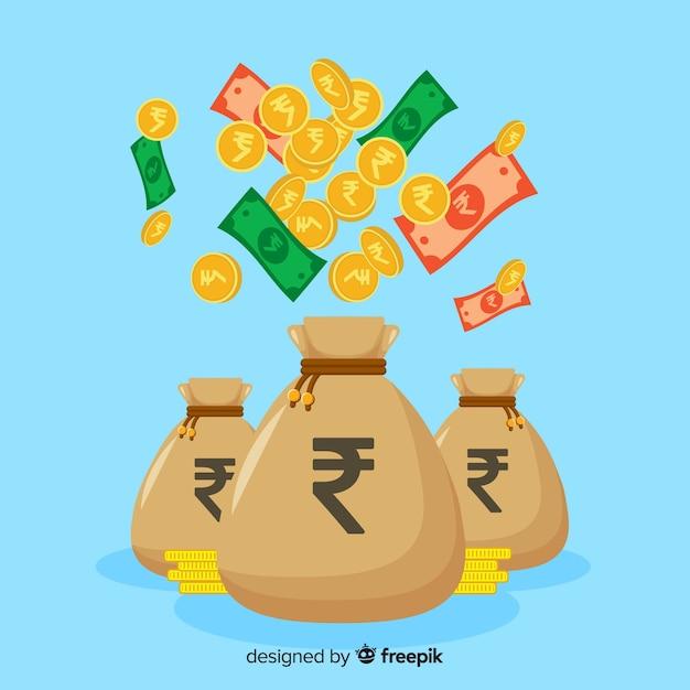 Сумка для индийской рупии Бесплатные векторы