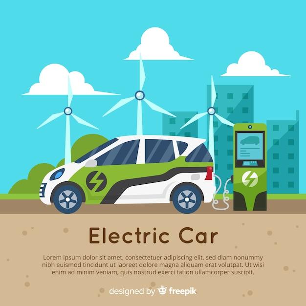 電気自動車 無料ベクター