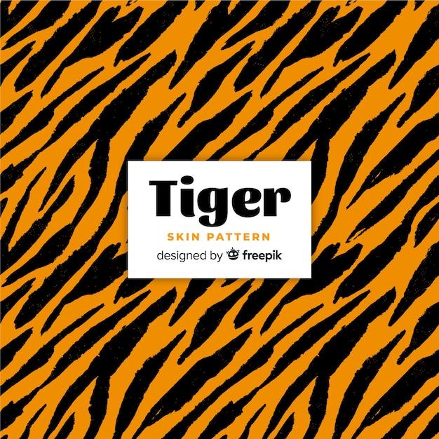 Шаблон кожи тигра Бесплатные векторы
