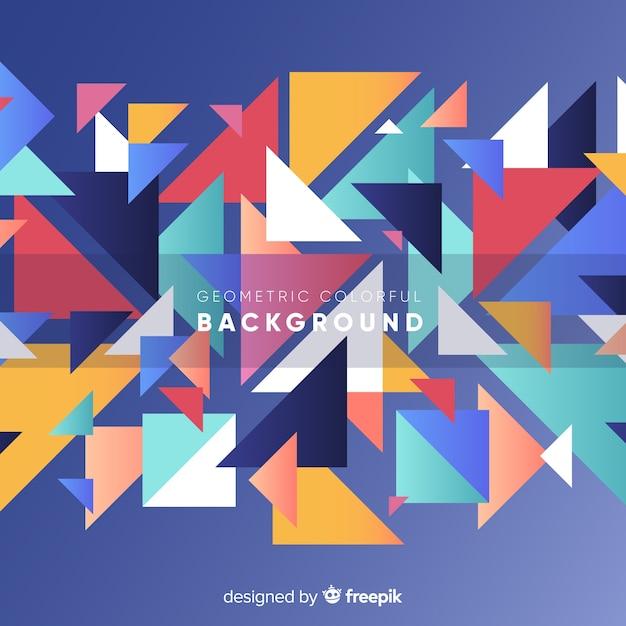 Современный абстрактный фон с геометрическими фигурами Бесплатные векторы