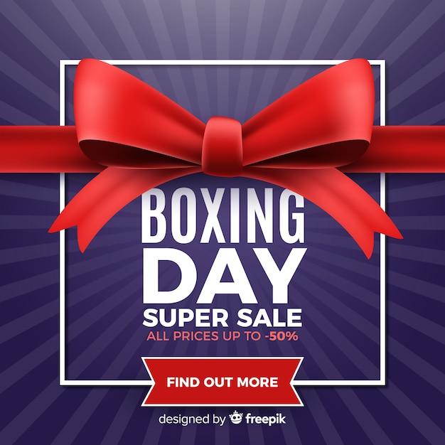 現実的なボクシングの日の販売の背景 無料ベクター