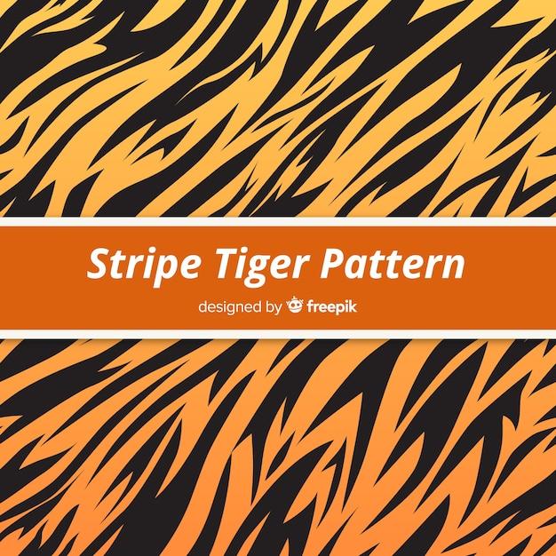 タイガーストライプパターン 無料ベクター