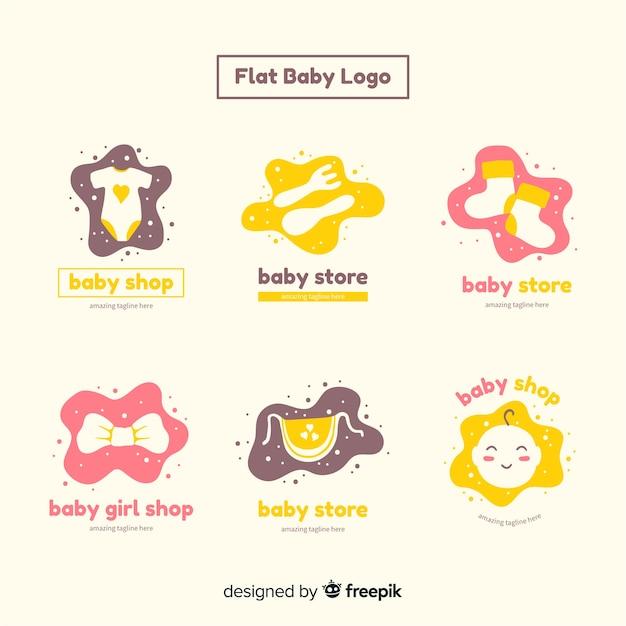 赤ちゃんのロゴコレクション 無料ベクター