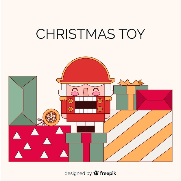 クリスマス背景おもちゃの兵士 無料ベクター