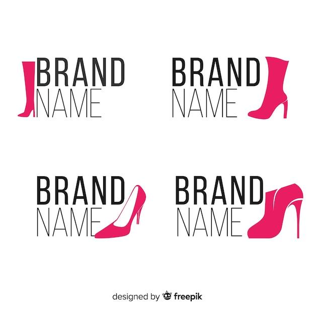 Модные логотипы обуви Бесплатные векторы