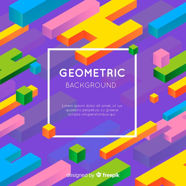 Абстрактный геометрический красочный фон Бесплатные векторы