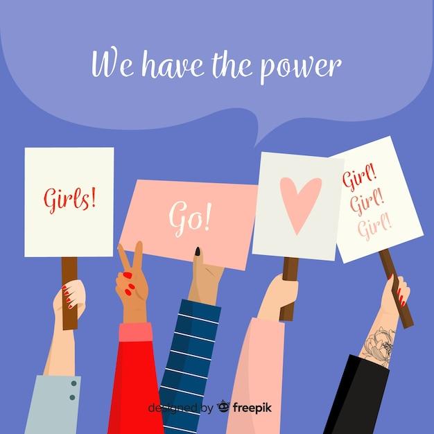 Феминистский протест Бесплатные векторы