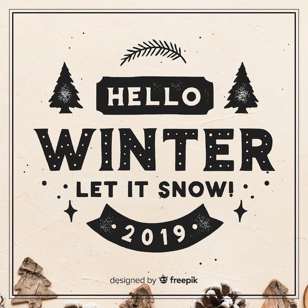 冬のレターレター 無料ベクター