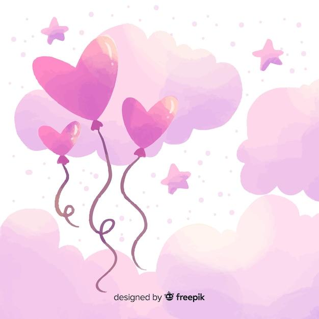 空のバレンタインの日の背景 無料ベクター