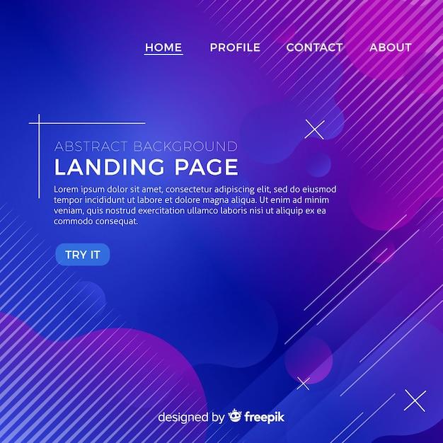 抽象的なランディングページの背景 Premiumベクター