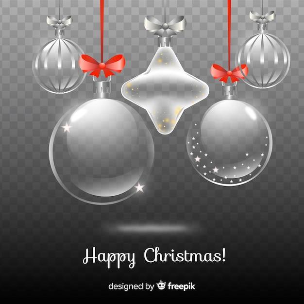 透明な背景の美しいクリスマス 無料ベクター