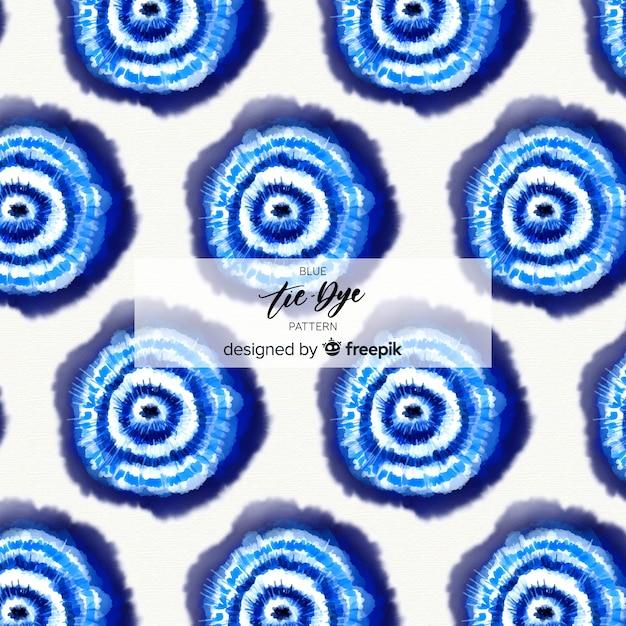 青色のタイ染料パターン 無料ベクター