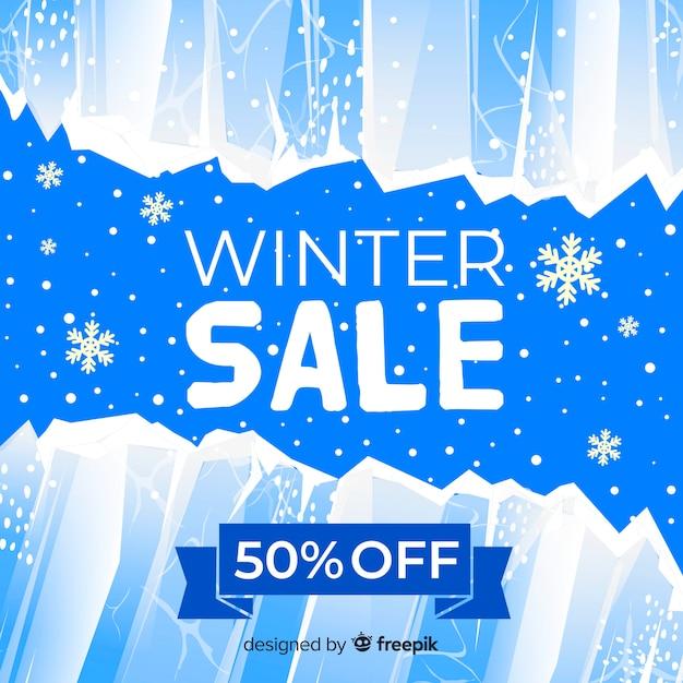 冬の販売のオークション 無料ベクター