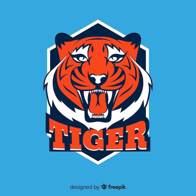 轟く虎の背景 無料ベクター