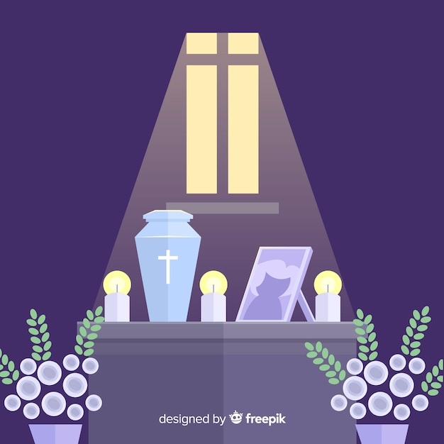 葬儀の背景 無料ベクター