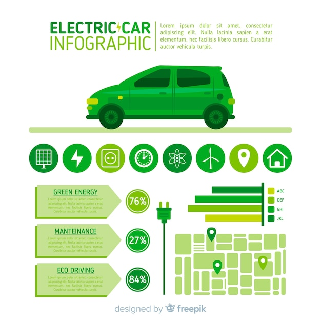Инфографика автомобильного автомобиля Бесплатные векторы