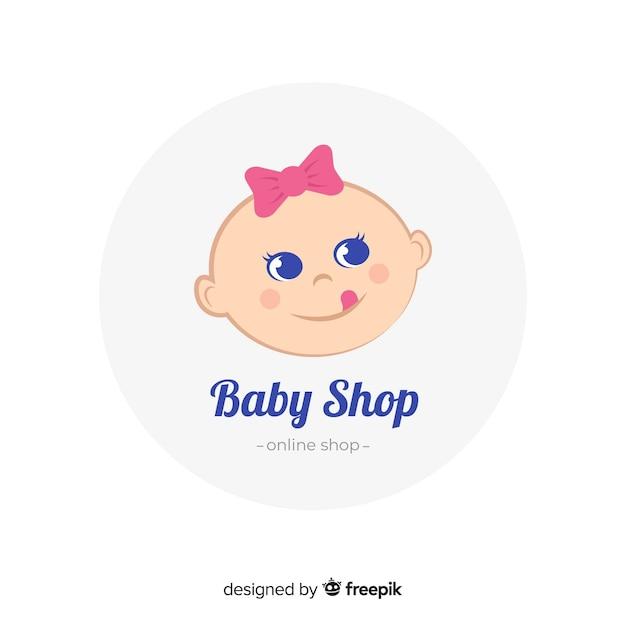 赤ちゃんのロゴテンプレート 無料ベクター