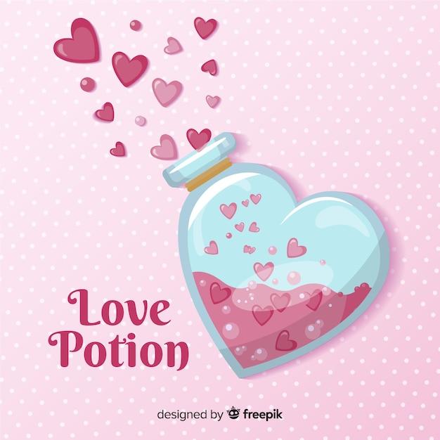 愛のポーションの背景 無料ベクター