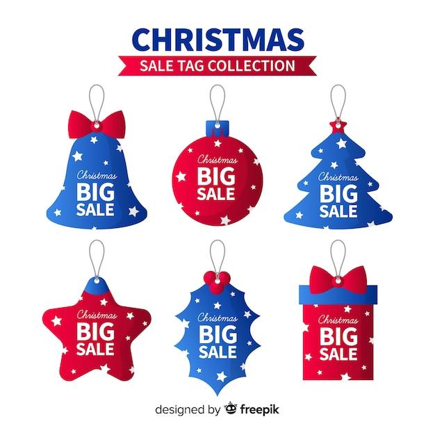 クリスマスセールタグコレクション 無料ベクター