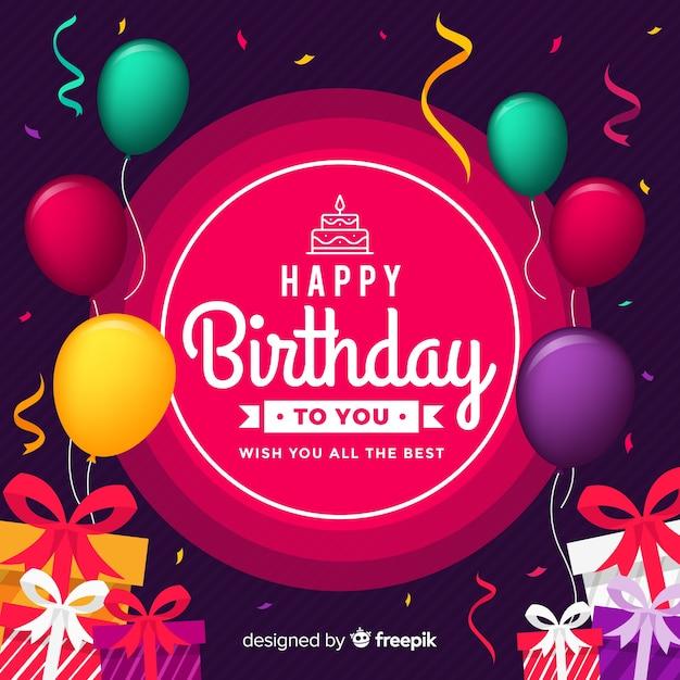 Реалистичные день рождения элементы фона Бесплатные векторы