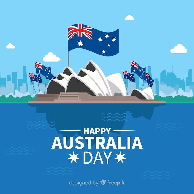 オーストラリアの日の背景 無料ベクター