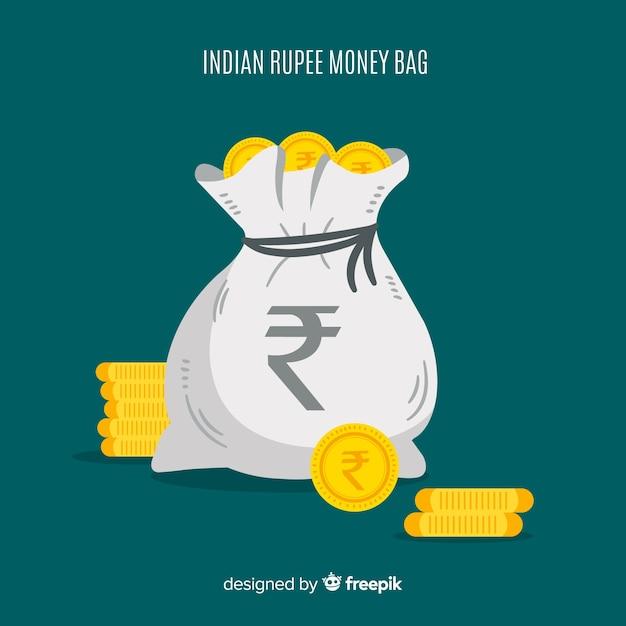 Индийская рупия денежный мешок Бесплатные векторы