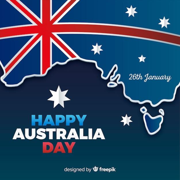 Счастливый австралийский день Бесплатные векторы