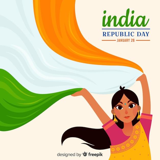 Индийский день республики Бесплатные векторы
