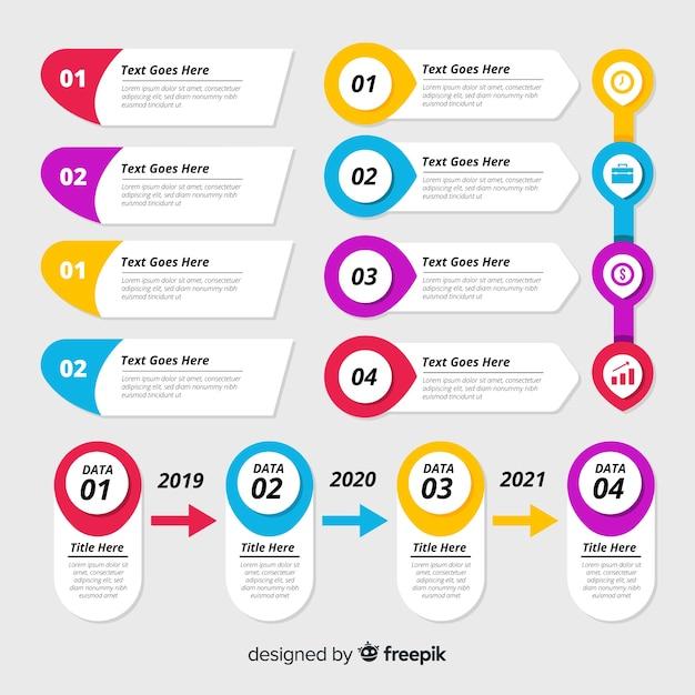 Коллекция инфографики Бесплатные векторы
