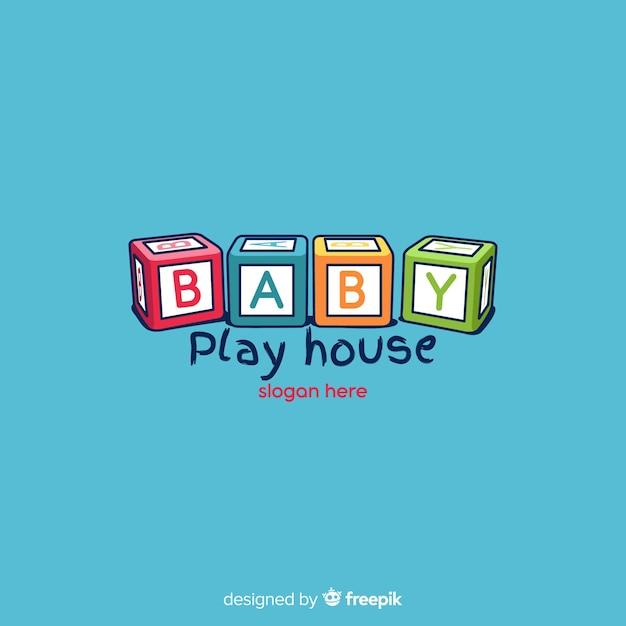 赤ちゃんのロゴ 無料ベクター