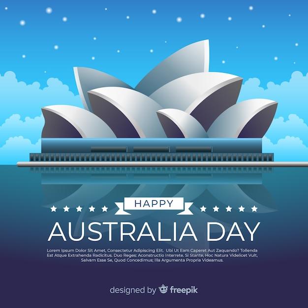 リアルなオーストラリアの日の背景 無料ベクター
