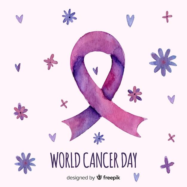 Акварель всемирный день борьбы против рака Бесплатные векторы