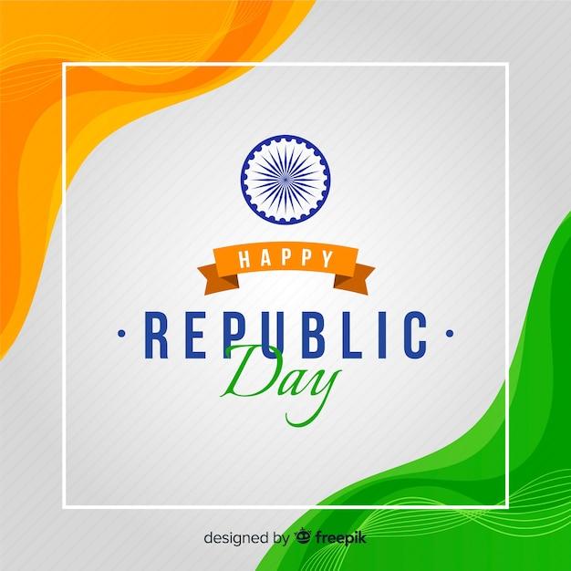 Плоский индийский день республики фон Бесплатные векторы