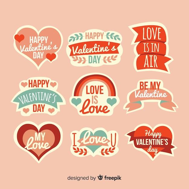 Пакет иллюстраций ко дню святого валентина Бесплатные векторы