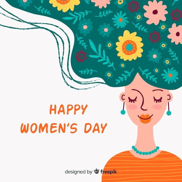 Счастливый женский день Бесплатные векторы