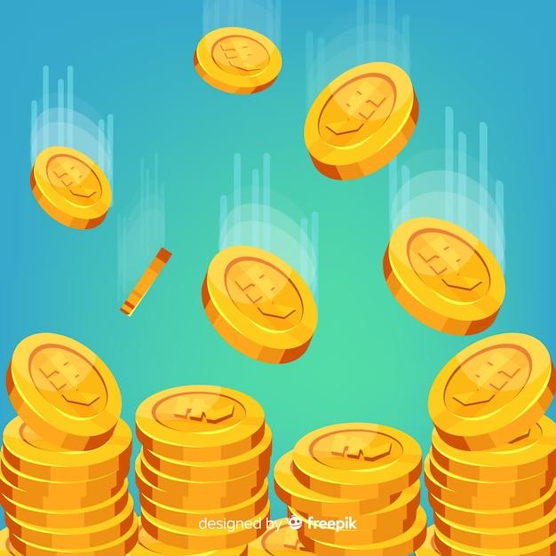 Индийские рупии падают Бесплатные векторы