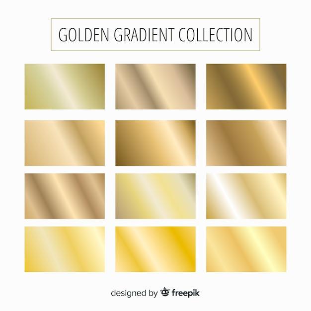 Золотая коллекция градиентов Бесплатные векторы