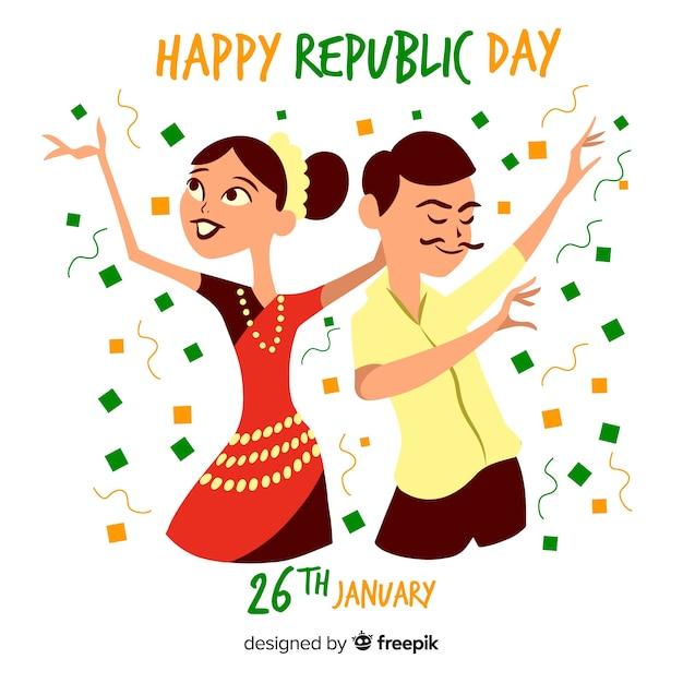 День индийской республики Бесплатные векторы