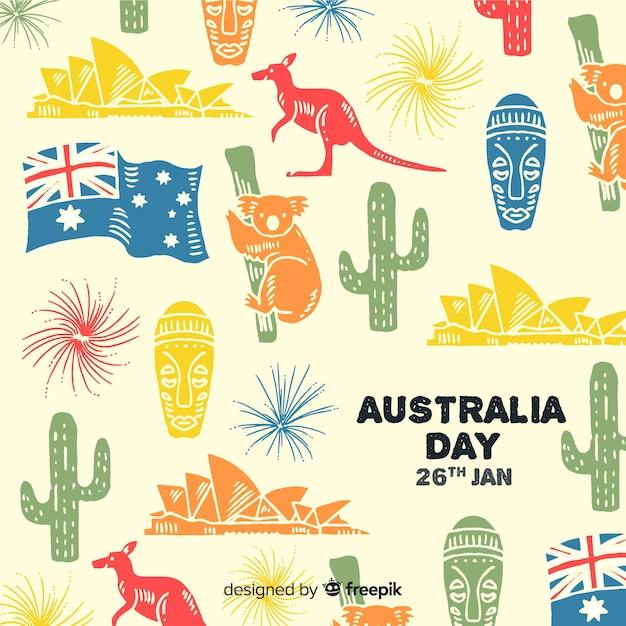 オーストラリアの日 無料ベクター