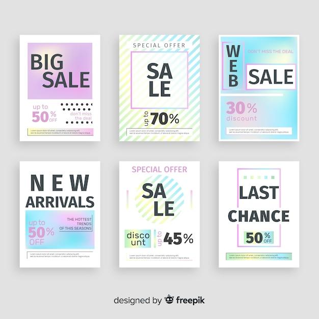 Продажа веб баннер баннер Бесплатные векторы