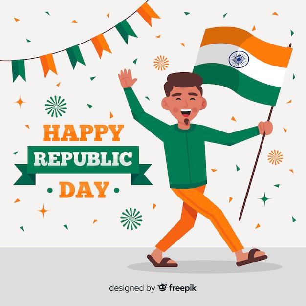 インド共和国記念日の背景 無料ベクター
