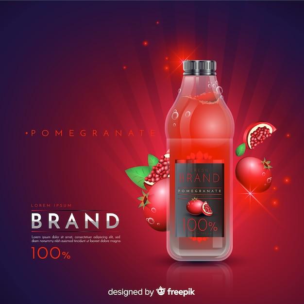 Гранатовый сок объявление Бесплатные векторы
