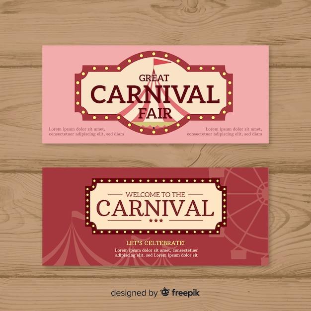 Плоский карнавальный банер Бесплатные векторы