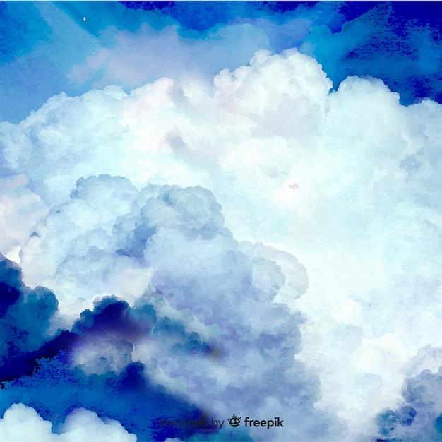 リアルな空の背景 無料ベクター