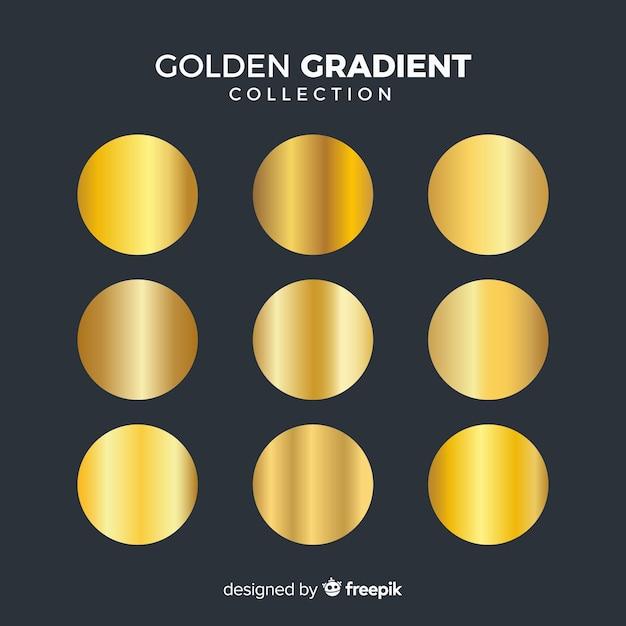ゴールデングラデーションコレクション 無料ベクター