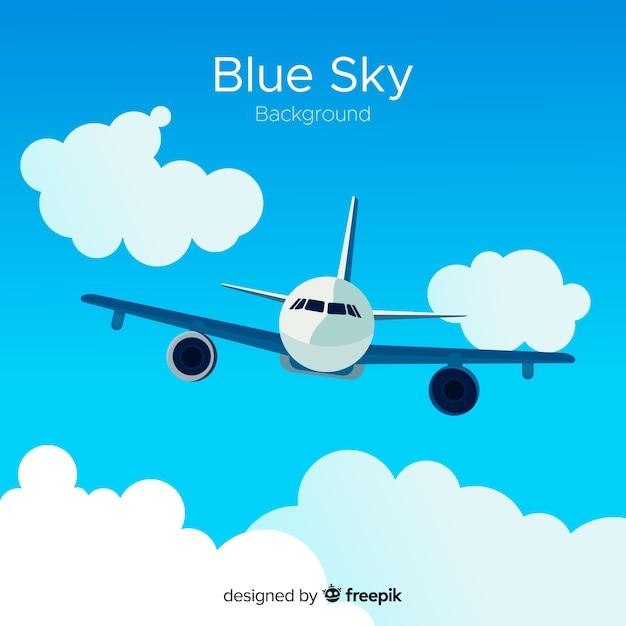 青い空の背景 無料ベクター